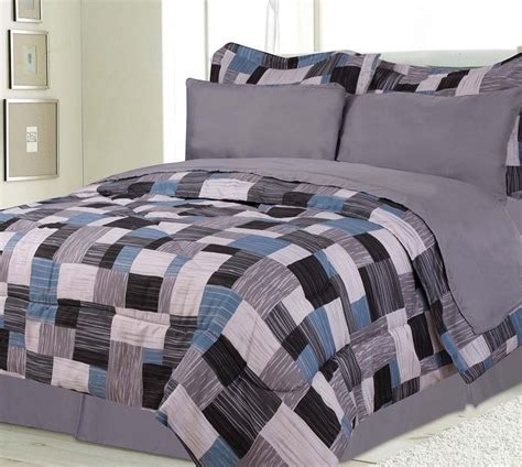 teen boys bedding sets boys kids bedding alaska gray blue black bed in a bag
