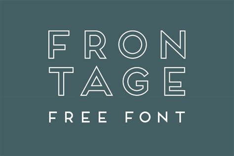typography outline free font frontage outline type