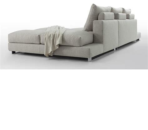 Dreamfurniture Com Divani Casa Vasto Modern Fabric Feather Sectional Sofa