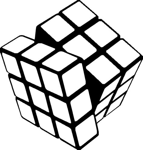 rubiks cube free coloring pages