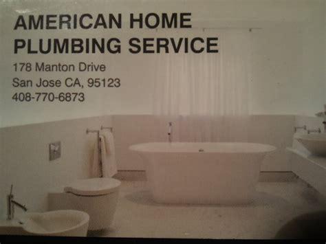 american home plumbing service plumbing santa teresa