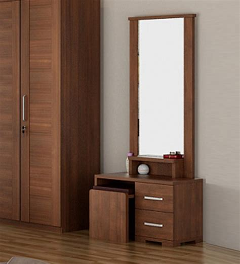 Discount Hardware For Kitchen Cabinets buy kosmo arena dressing table in rigato walnut finish by