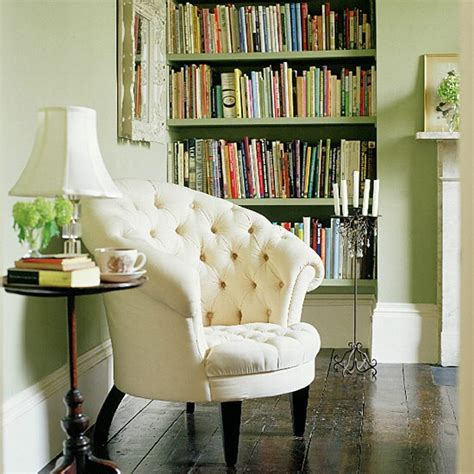 classic reading chair classic white buttoned chair in living room with bookcase