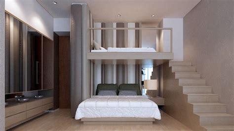 elegant kid bedrooms  bunkbed  padded wall cushion