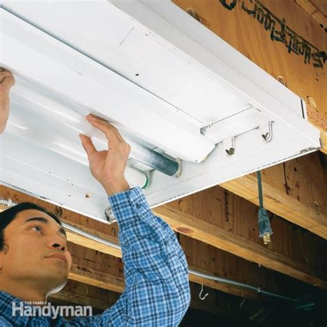 Changing Fluorescent Light Fixture To Incandescent How To Replace A Fluorescent Light Bulb The Family Handyman