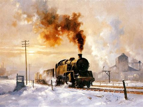 painting trains steam locomotive steam painting by howard fogg 25