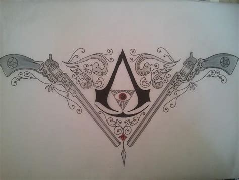 assassins creed tattoo designs assassin s creed supernatural design by
