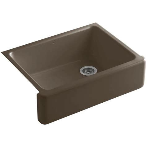 kohler whitehaven undermount farmhouse apron front cast