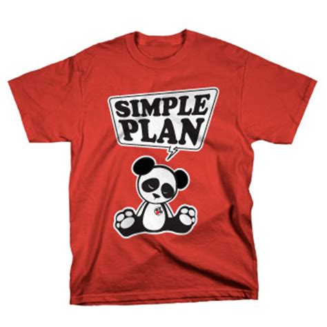 design t shirt lesson plan simple plan panda on red t shirts official merch