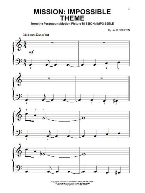 theme music in 3 impossible theme partition par lalo schifrin piano