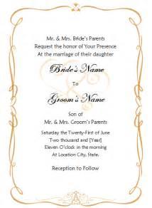 Wedding Invitation Templates For Free Wedding Invitation Template