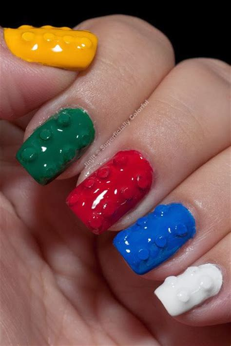 lego nails tutorial lego nails lego and nail art on pinterest