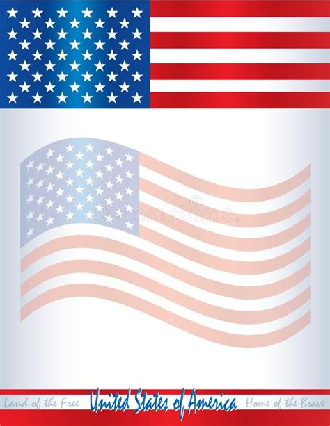 Usa American Flag Template Poster Background United States Of America Stock Illustration American Flag Flyer Template