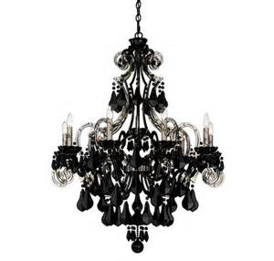 Black Chandelier Photos Schonbek Cappela 9 Light Black Chandelier In
