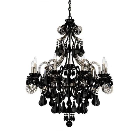Photos Schonbek Cappela 9 Light Black Chandelier In Chandeliers Black