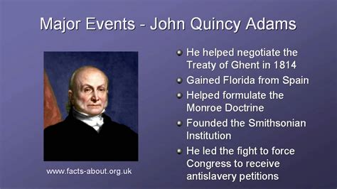 biography facts about john adams president john quincy adams biography youtube