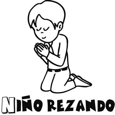 dibujos para colorear de ninos orando dibujos de primera comunion nino rezando para colorear