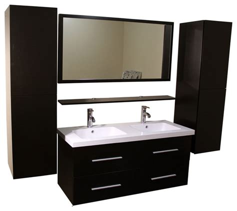 houzz bathroom cabinets kokols double vanity cabinet with side cabinets and mirror
