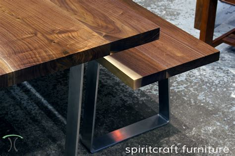 Black Kitchen Island With Stainless Steel Top custom solid hardwood table tops live edge slabs