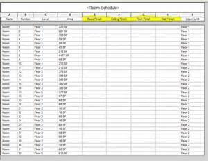 Room Schedule by Revit Mep Seiler Cad Support