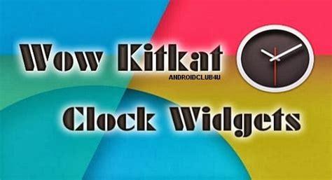 kitkat clock apk wow kitkat clock widgets v1 0 apk