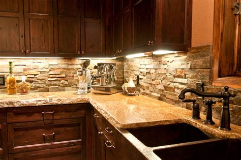 Slate Backsplashes For Kitchens by Copper Farm Sink Rustic Kitchen Other Metro By