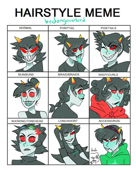 Hairstyle Meme - terezi hairstyle meme by dongoverlord on deviantart