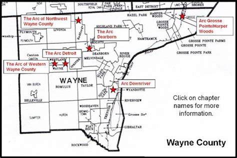 map of wayne county michigan wayne county chapters michigan