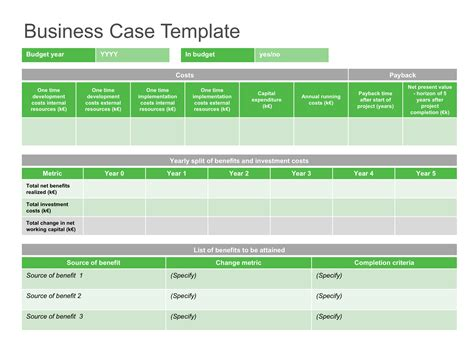 best business case template business case template free
