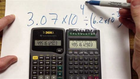 calculator you can write on calculators with scientific notation youtube