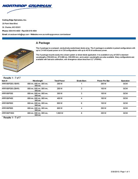northrop grumman high power laser diode pulsed laser diode array 28 images pulsed laser diode bar qcw 808nm to 976nm 300w array
