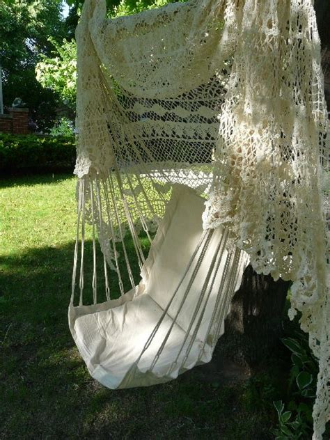 love swing chair i want this hammock chair in my garden love the lacy