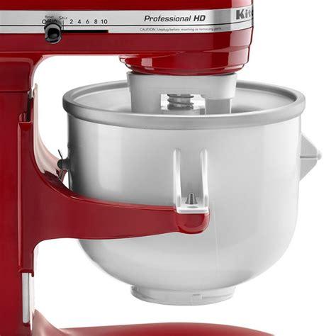 KitchenAid KICA0WH 2 Quart Ice Cream Maker Stand Mixer