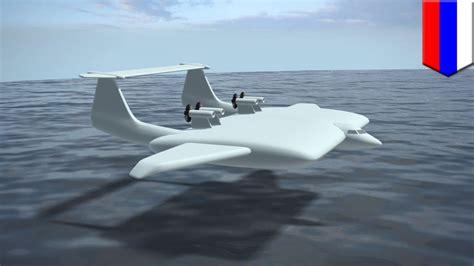 airplane technology russia develops ground effect vehicle that skims the ground tomonews