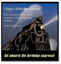 printable train birthday card template