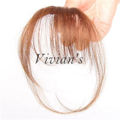 Hair Clip Asli Human Hair 100 real human hair bangs clip in hair bangs with sidebums black brown ebay