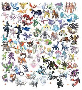 Pokemones legendarios v2 by n0variel on deviantart