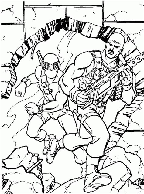 coloring page action man coloring pages 16
