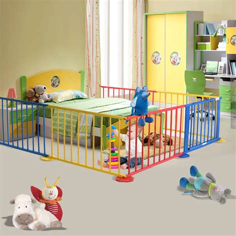 baby room divider baby playpen 6 panel colors wooden frame children playard foldable room divider baby toddler