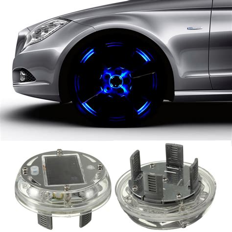 Car Solar Energy Flash Wheel Tire Rim Light L 4 Modes Car Led Light