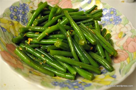 steamed green beans piglicious