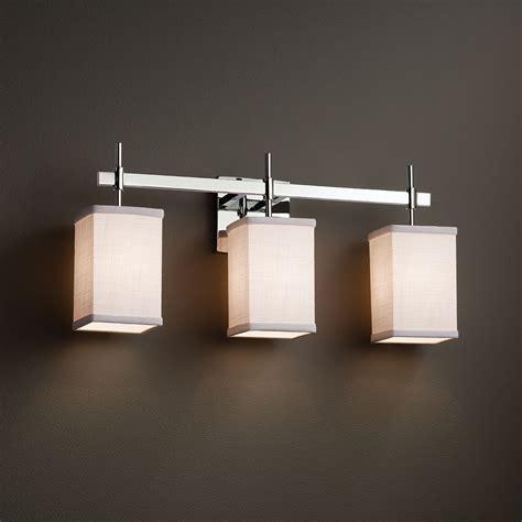 justice lighting fixtures justice design fab 8413 union textile 3 light bathroom light fixture jus fab 8413
