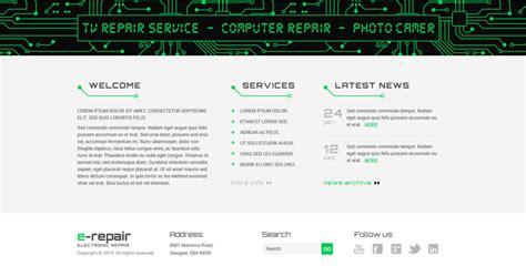 theme wordpress electronic electronic repair bootstrap wordpress theme gridgum