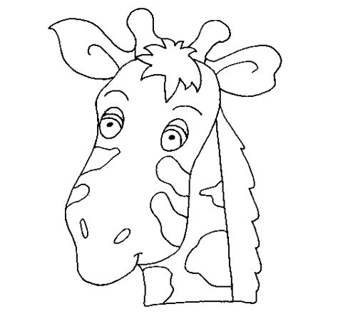 giraffe face coloring pages free giraffe face mask coloring pages