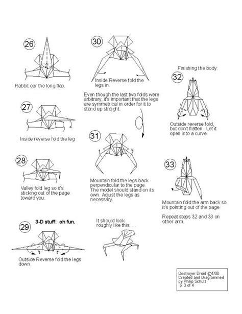 Origami Droid - droideka instux origami yoda