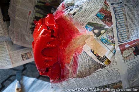 Bremssattel Lackieren Abkleben bremss 228 ttel lackieren zweinuller