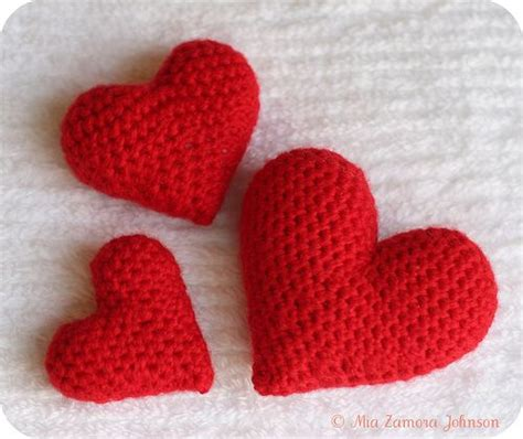 free pattern heart amigurumi amigurumi hearts pattern corazones en crochet pinterest
