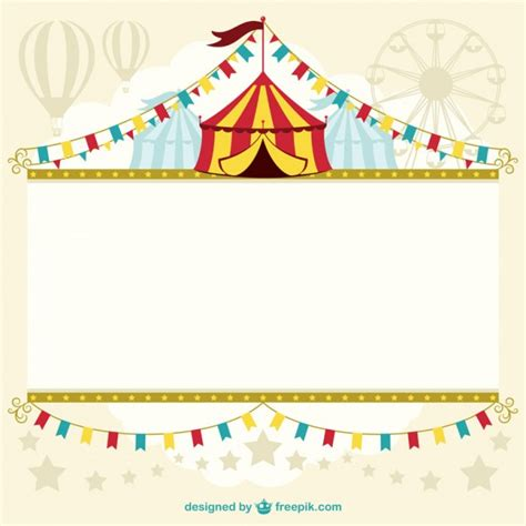 circus ticket template free free vector graphic carnival circus tent background