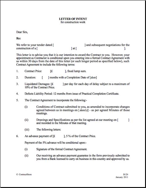 Letter Of Intent For Work Exle printable sle letter of intent template form real estate forms word real