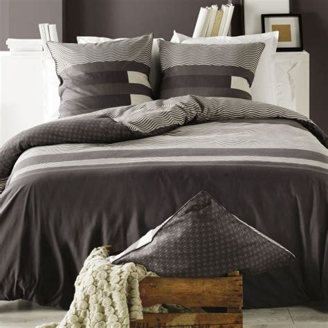 Housse De Couette Design by Parure De Lit Kea Taupe C Design Home Textile